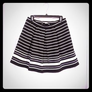Max Studio Striped A-Line Skirt